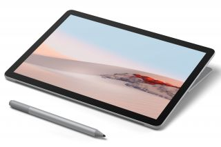 Microsoft Surface Go 2 STZ-00003 2-in-1 Tablet mit Stift liegend