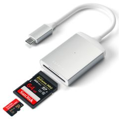 Satechi Aluminum Type-C UHS-II Micro/SD Card Reader | Silber