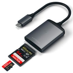 Satechi Aluminum Type-C UHS-II Micro/SD Card Reader space grey ST-TCU3CRM