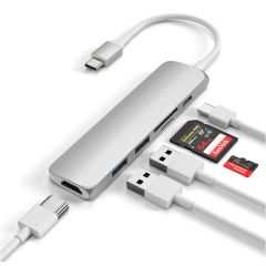 Satechi Type-C USB Passthrough HDMI Hub V2 | Silber